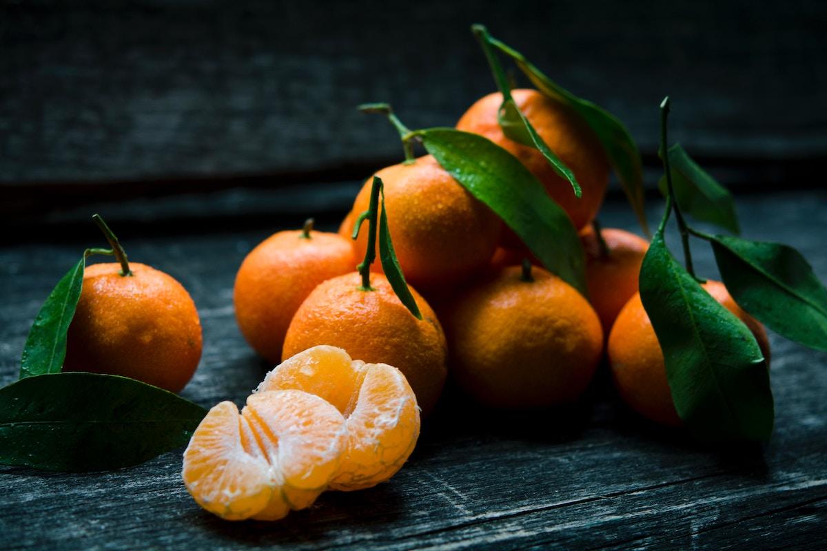 mandarina frutas de otoño
