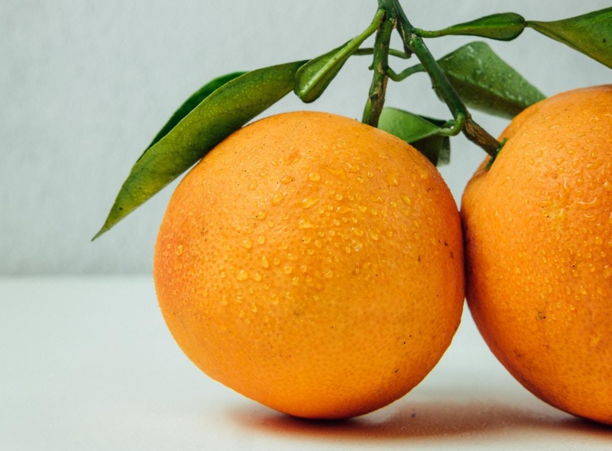 naranja frutas de otoño