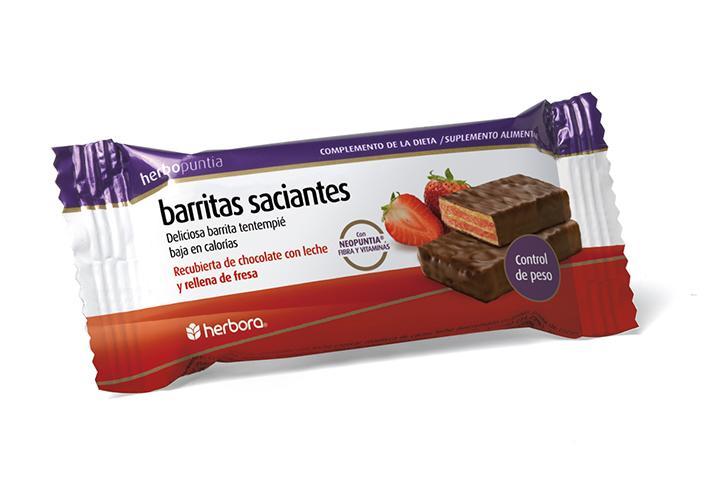Herbopuntia barritas chocolate con leche y fresa