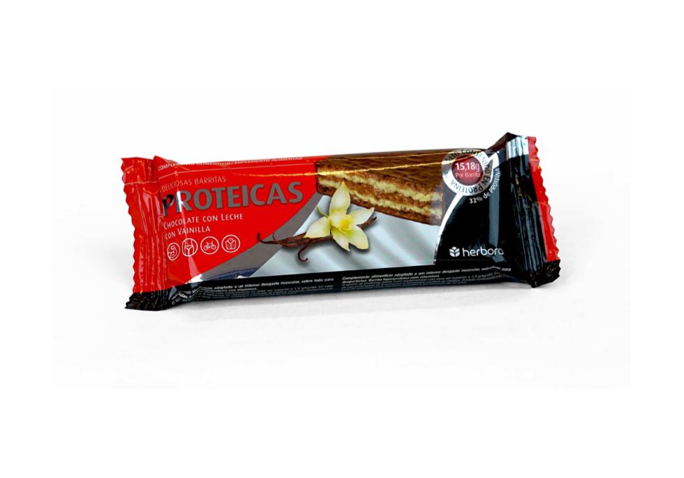 Barrita proteica chocolate con leche y vainilla