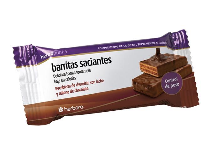 Herbopuntia barritas chocolate con leche